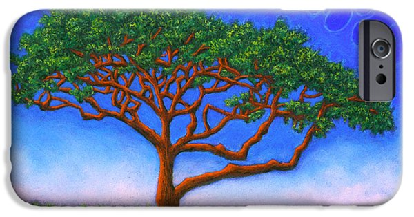 Vibrant Pastels iPhone Cases - Tree Of Life iPhone Case by Michael Heikkinen