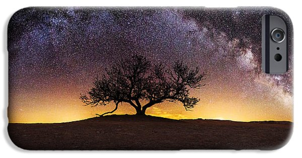 Stars Photographs iPhone Cases - Tree of Wisdom iPhone Case by Aaron J Groen