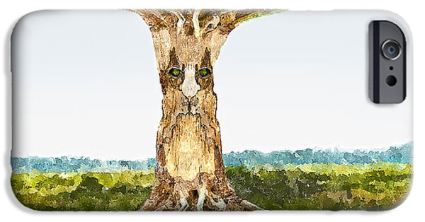 Tree Roots iPhone Cases - Tree Spirit iPhone Case by Rick Mosher