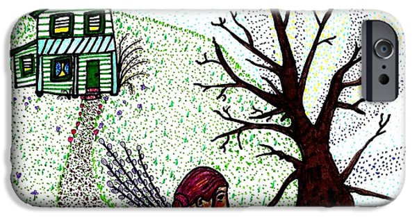 Storybook iPhone Cases - Tree Spirit iPhone Case by Sarah Loft