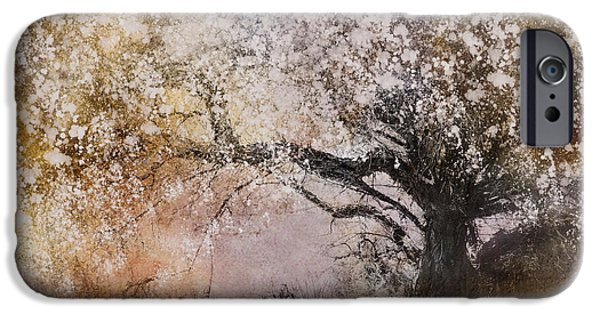 Pastel Digital Art iPhone Cases - Tree Whispers iPhone Case by Amy Weiss