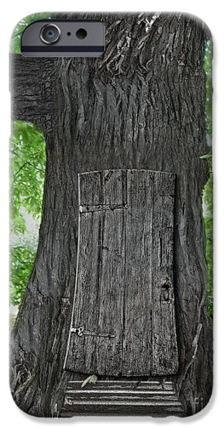Recently Sold -  - Forest iPhone Cases - Treehouse Door iPhone Case by Mike Agliolo