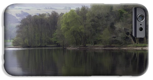 United iPhone Cases - Trees and greenery on the shore of Loch Ness iPhone Case by Ashish Agarwal