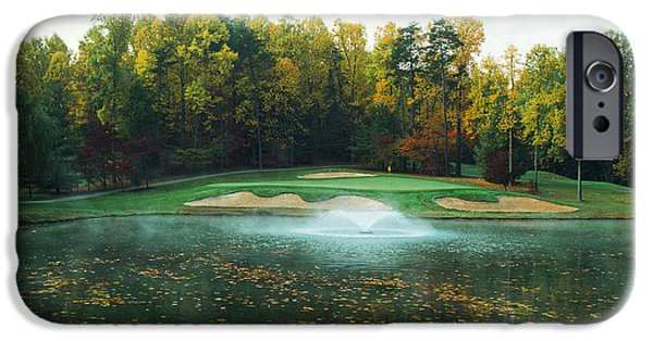 11th iPhone Cases - Trees In A Golf Course, Congressional iPhone Case by Panoramic Images