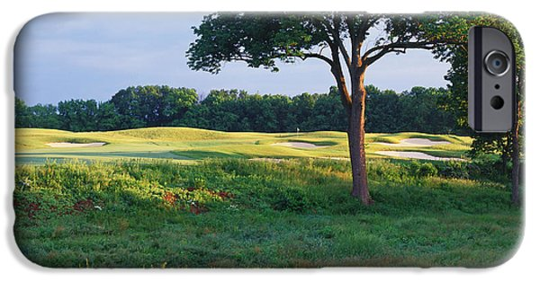 Ringo iPhone Cases - Trees In A Golf Course, Heron Glen Golf iPhone Case by Panoramic Images