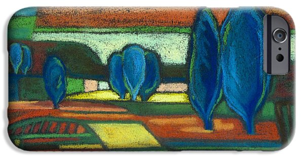Matting iPhone Cases - Trees of Blue iPhone Case by Gergana Valkova