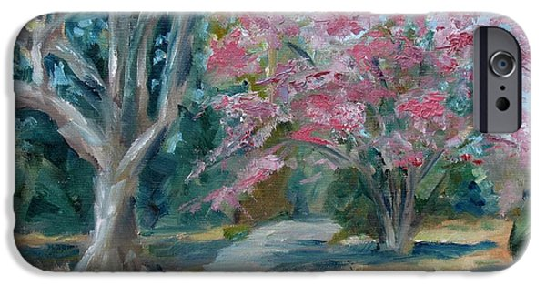 Carnton Plantation iPhone Cases - Trees of Windermere iPhone Case by Susan E Jones