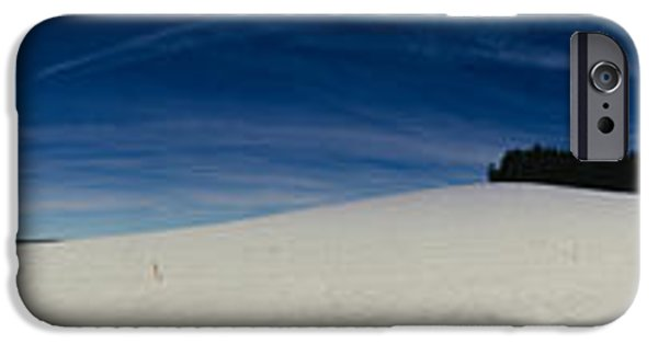 Snow Scene iPhone Cases - Trees On A Snow Covered Landscape, St iPhone Case by Panoramic Images