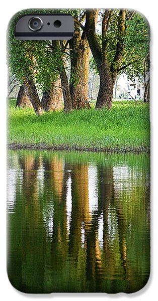 Trees Reflection on the Lake iPhone Case by Heiko Koehrer-Wagner