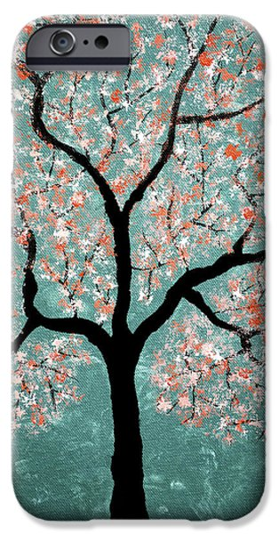Tree Roots Pastels iPhone Cases - Treescape 1 iPhone Case by Sumit Mehndiratta