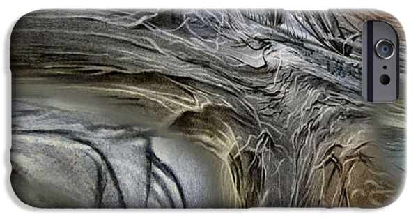 Tree Roots Pastels iPhone Cases - Treescape 2 - 2010 iPhone Case by Glenn Bautista