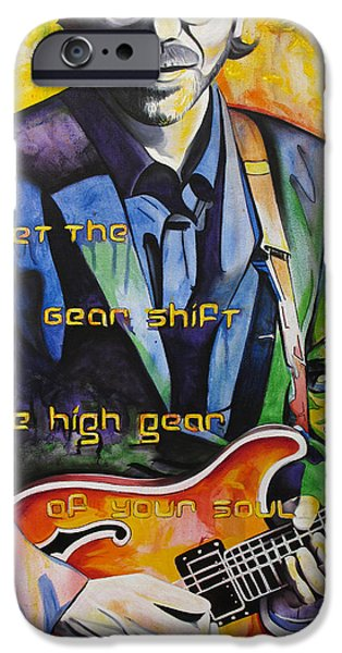 Band Paintings iPhone Cases - Trey Anastasio and Antelope Lryics iPhone Case by Joshua Morton