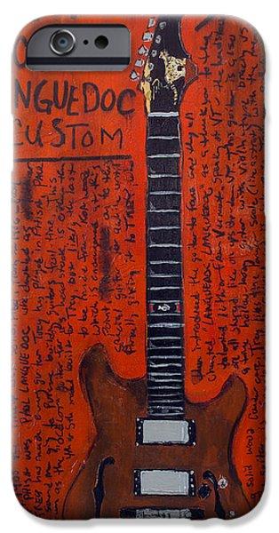 Guitar iPhone Cases - Trey Anastasio Languedoc guitar iPhone Case by Karl Haglund