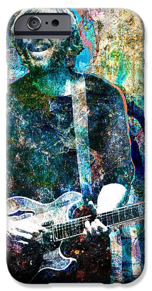 Trey Anastasio - Phish Original Painting Print iPhone Case by Ryan RockChromatic