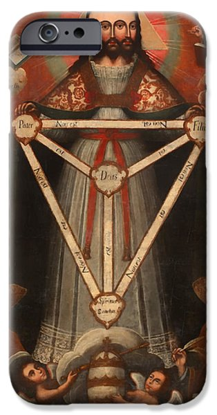 Christ Artwork iPhone Cases - Tri Facial Trinity iPhone Case by Mountain Dreams