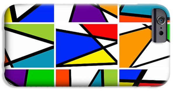 Asymmetrical iPhone Cases - Triangularism Enneaptych I iPhone Case by Richard Reeve