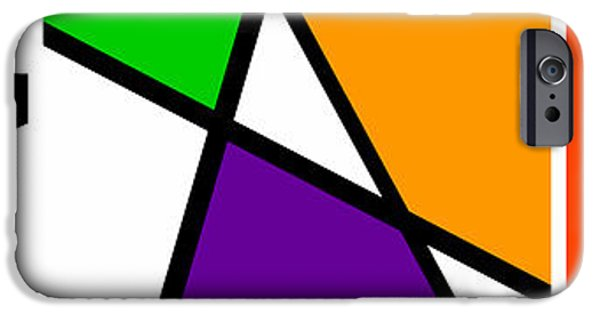Asymmetrical iPhone Cases - Triangularism Triptych  I iPhone Case by Richard Reeve