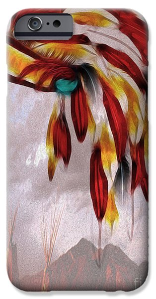 Arapaho iPhone Cases - Tribal iPhone Case by Cheryl Young