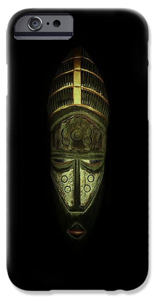 Tribal Mask  iPhone Case by David Dehner