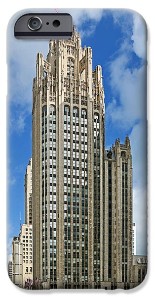 Interior Scene iPhone Cases - Tribune Tower - Beautiful Chicago architecture iPhone Case by Christine Till