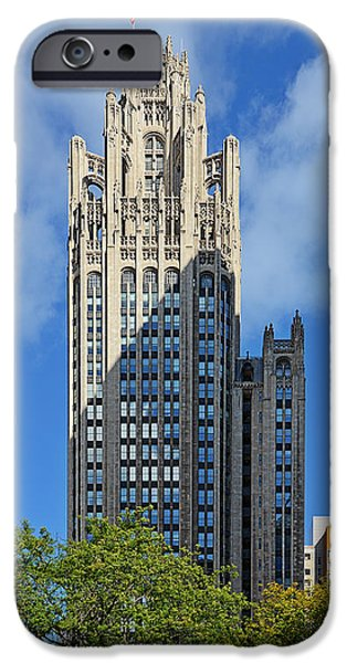 Multimedia iPhone Cases - Tribune Tower Chicago - History is part of the building iPhone Case by Christine Till