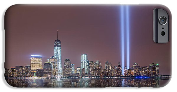 Twin Towers Nyc iPhone Cases - Tribute in Light iPhone Case by Michael Ver Sprill