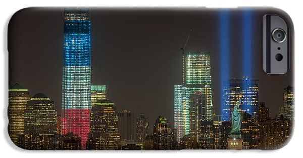 Municipal iPhone Cases - Tribute in Light XIII iPhone Case by Clarence Holmes