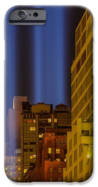 Landscape iPhone Cases - Tribute In Lights 911 WTC NYC iPhone Case by Susan Candelario