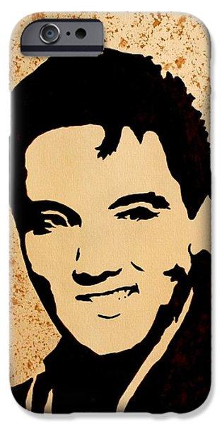 Elvis Presley Paintings iPhone Cases - Tribute to Elvis Presley iPhone Case by Georgeta  Blanaru