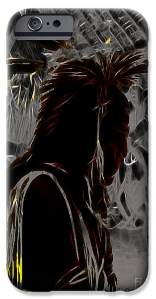 Arapaho iPhone Cases - Tribute to Mateo iPhone Case by Cheryl Young