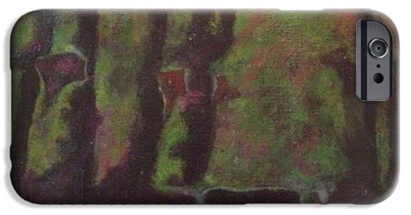 Alizarin Crimson iPhone Cases - Tribute to Ralph No.3 iPhone Case by Jim Ellis