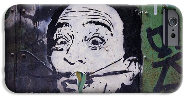 Painter Poster Photographs iPhone Cases - Tribute to Salvador Dali iPhone Case by Victoria Herrera