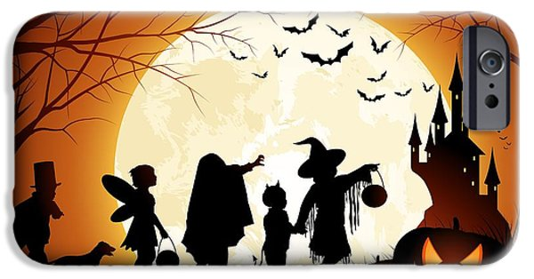 Halloween Digital iPhone Cases - Trick or Treat iPhone Case by Gianfranco Weiss