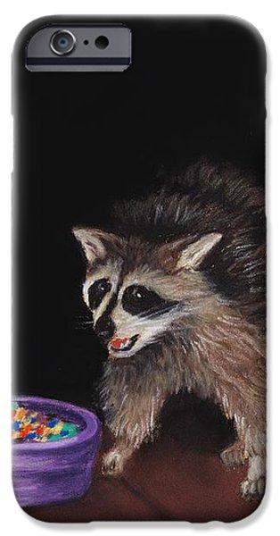 Animal Print Pastels iPhone Cases - Trick-or-Treat iPhone Case by Anastasiya Malakhova