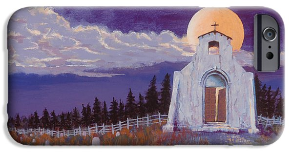 Headstones Paintings iPhone Cases - Trick or Treat iPhone Case by Jerry McElroy