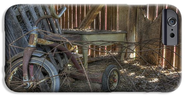 Barnstormer Photographs iPhone Cases - Tricycle iPhone Case by Jason Barr
