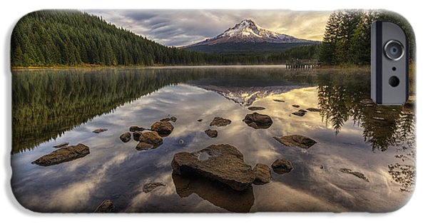October iPhone Cases - Trillium Reflection iPhone Case by Mark Kiver