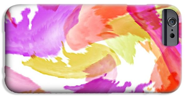 Abstract Digital iPhone Cases - Trilogy iPhone Case by Diana Angstadt