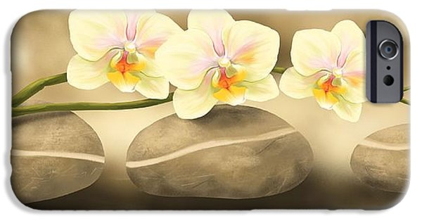 Flower Still Life Prints iPhone Cases - Trilogy iPhone Case by Veronica Minozzi