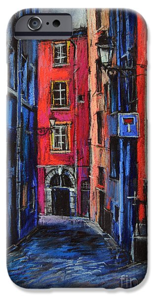 Facade Pastels iPhone Cases - Trinite Square Lyon iPhone Case by Mona Edulesco