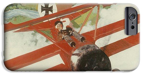 Ww1 Paintings iPhone Cases - Triplane iPhone Case by Richard La Motte