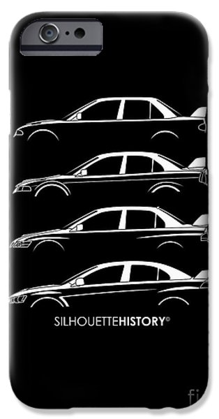 Rally iPhone Cases - Triple Diamonds SilhouetteHistory iPhone Case by Gabor Vida