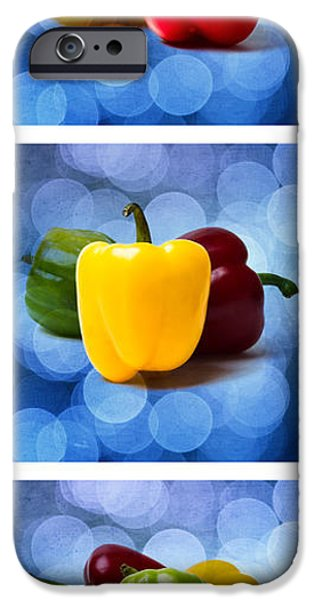 Triptych - Pepper Traffic Lights 2 iPhone Case by Alexander Senin