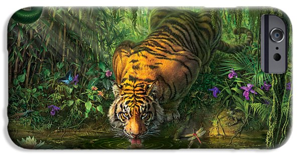 Bengal Tiger iPhone Cases -  Auroras Garden iPhone Case by Mark Fredrickson