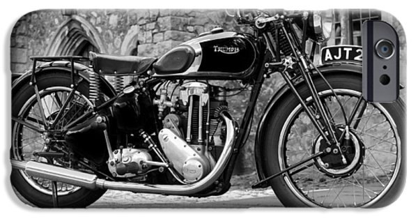 Cycle iPhone Cases - Triumph De Luxe 1939 iPhone Case by Mark Rogan