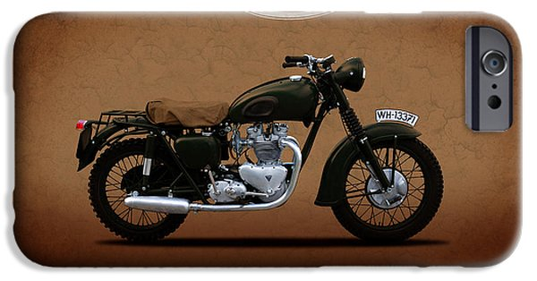Steve Mcqueen iPhone Cases - Triumph - The Great Escape iPhone Case by Mark Rogan