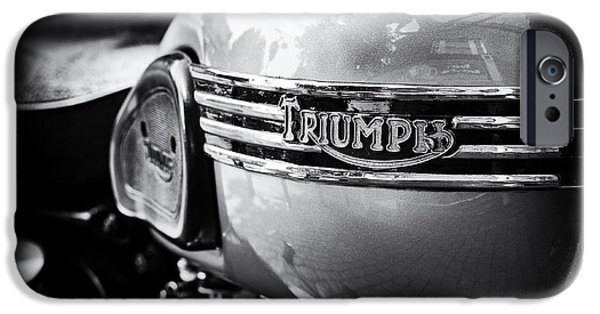 Culture iPhone Cases - Triumph Tiger 110 Motorcycle iPhone Case by Tim Gainey