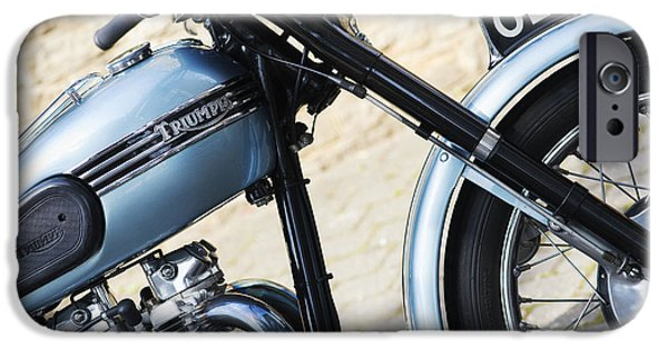 Sixties iPhone Cases - Triumph Tiger 110 iPhone Case by Tim Gainey