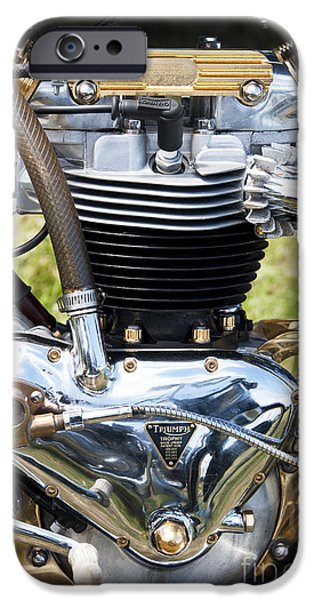 Polish Culture iPhone Cases - Triumph Trophy Engine iPhone Case by Tim Gainey