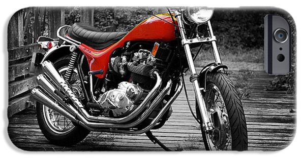 Motorcycle iPhone Cases - Triumph X-75 Hurricane iPhone Case by Mark Rogan
